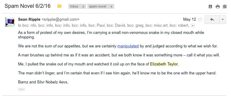 spam novel
